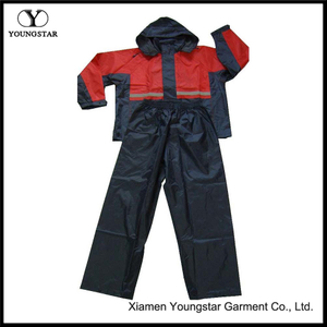 Two Piece Rain Suit Mens Polyester Cheap Rain Gear for Fishing