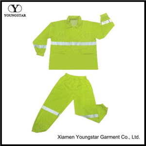Men Rainsuit Waterproof Yellow Jacket And Pant Rain Suits For Work