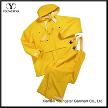 Mens Two Piece Yellow Rain Suit
