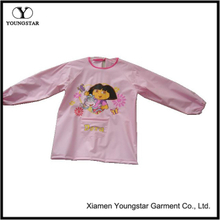 Smock Waterproof Anti Dirt Kindergarten Painting Clothing Raincoat Baby Girl Boy Long Sleeve Cartoon Art Apron Bibs